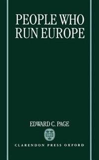 People Who Run Europe