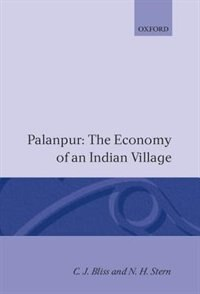 Book Palanpur: The Economy of an Indian Village by C. J. Bliss