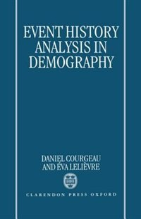Book Event History Analysis in Demography by Daniel Courgeau