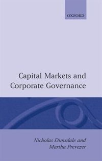 Book Capital Markets and Corporate Governance by Nicholas Dimsdale