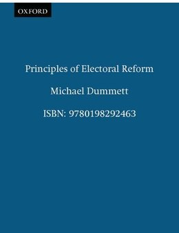 Book Principles of Electoral Reform by Michael Dummett