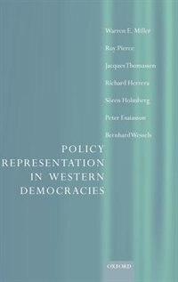 Book Policy Representation in Western Democracies by Warren Miller