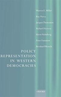 Policy Representation in Western Democracies