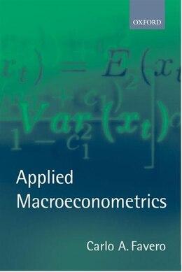 Book Applied Macroeconometrics by Carlo A. Favero