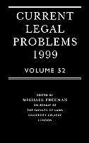 Book Current Legal Problems, Volume 52 by M. D. A. Freeman