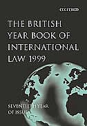 Book The British Year Book of International Law: Volume 70: 1999 by Ian Brownlie