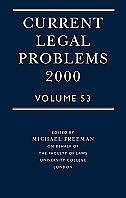 Book Current Legal Problems Volume 53, 2000: Current Legal Issues V53 Curre by M. D. A. Freeman