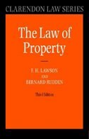 Book Law of Property by F H Lawson
