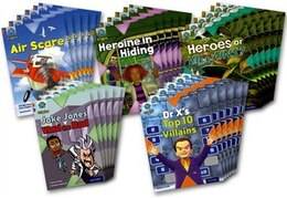 Book Project X Origins: Brown Book Band, Oxford Level 11 Heroes and Villains: Class Pack of 30 by Jan Burchett
