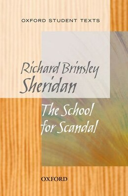 Book New Oxford Student Texts: School for Scandal by Richard Brinsley Sheridan