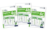 Numicon: Number, Pattern and Calculating 4 Explorer Progress Books ABC (Mixed pack)