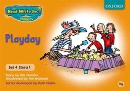 Book Read Write Inc. Phonics: Orange Set 4 Storybooks Playday by Gill Munton