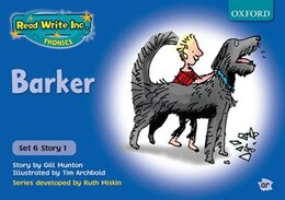 Book Read Write Inc. Phonics: Blue Set 6 Storybooks Barker by Gill Munton
