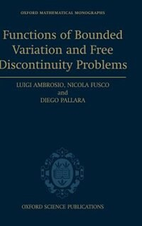 Book Functions of Bounded Variation and Free Discontinuity Problems by Luigi Ambrosio