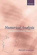 Book Numerical Analysis: A Mathematical Introduction by Michelle Schatzman