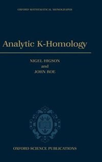 Book Analytic K-Homology by Nigel Higson