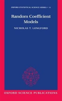 Book Random Coefficient Models by Nicholas T. Longford