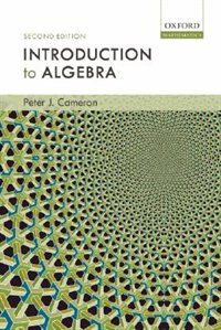 Book Introduction to Algebra by Cameron, Peter J.