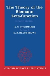 Book The Theory of the Riemann Zeta-Function by E. C. Titchmarsh