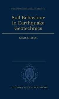 Book Soil Behaviour in Earthquake Geotechnics by Kenji Ishihara
