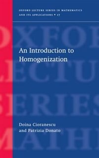 Book An Introduction to Homogenization by Doina Cioranescu