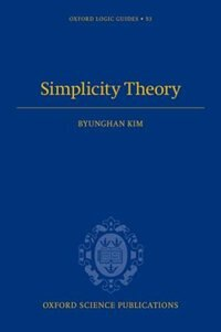 Book Simplicity Theory by Byunghan Kim