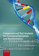 Book Computational Text Analysis: for functional genomics and bioinformatics by Soumya Raychaudhuri