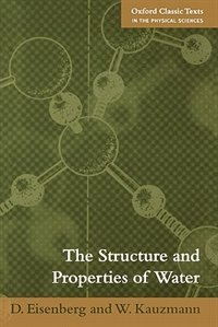 Book The Structure and Properties of Water by D Eisenberg