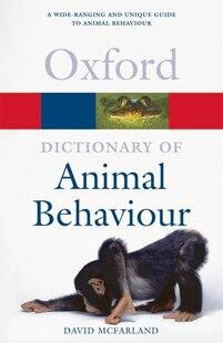 A Dictionary of Animal Behaviour