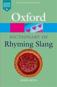 Book The Oxford Dictionary of Rhyming Slang by John Ayto
