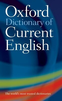 Book Oxford Dictionary of Current English 4th Ed by Oxford