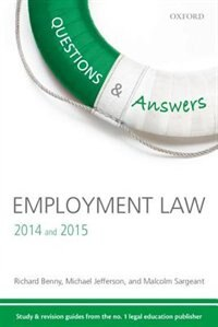 Q and A Revision Guide Employment Law 2014 and 2015 by Richard Benny