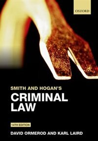 Book Smith and Hogans Criminal Law by David Ormerod