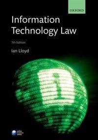 Book Information Technology Law by Ian Lloyd