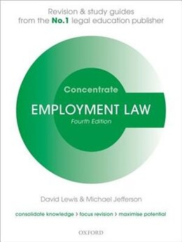 Book Employment Law Concentrate: Law Revision and Study Guide by David Lewis