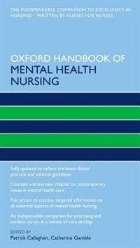 Book Oxford Handbook of Mental Health Nursing by Patrick Callaghan