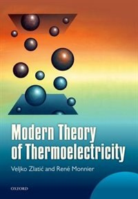 Book Modern Theory of Thermoelectricity by Veljko Zlatic