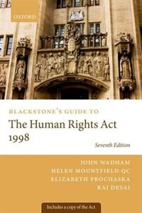 Book Blackstones Guide to the Human Rights Act 1998 by John Wadham