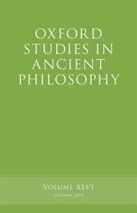 Book Oxford Studies in Ancient Philosophy, Volume 46 by Brad Inwood