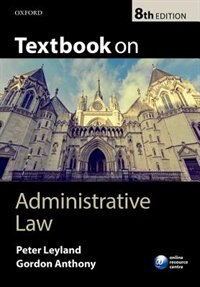 Book Textbook on Administrative Law by Peter Leyland
