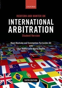 Book Redfern and Hunter on International Arbitration by Nigel Blackaby
