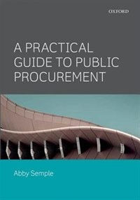 Book A Practical Guide to Public Procurement by Abby Semple