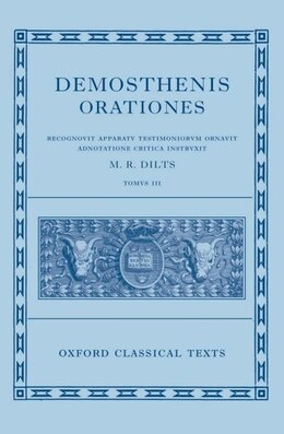 Book Demosthenis Orationes III by Mervin R. Dilts