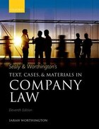 Sealy and Worthingtons Text, Cases, and Materials in Company Law