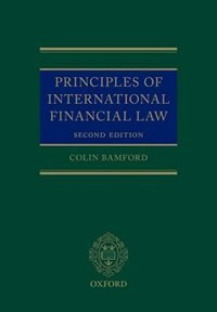 Book Principles of International Financial Law by Colin Bamford