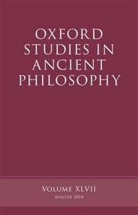 Book Oxford Studies in Ancient Philosophy, Volume 47 by Brad Inwood