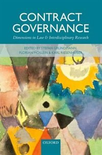 Book Contract Governance: Dimensions in Law and Interdisciplinary Research by Stefan Grundmann