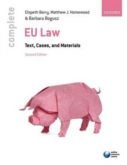 Book Complete EU Law: Text, Cases, and Materials by Elspeth Berry