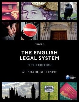 Book The English Legal System by Alisdair Gillespie