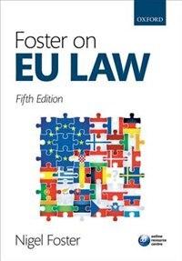 Book Foster on EU Law by Nigel Foster